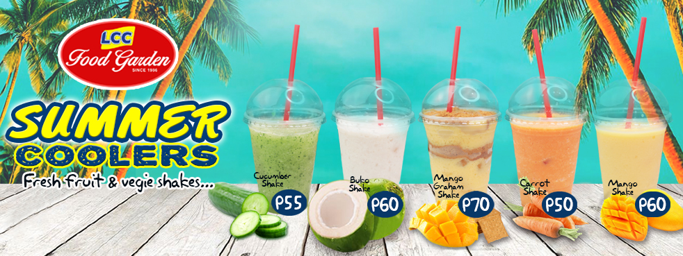 Summer coolers website Banner